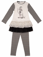 Kate Mack Puppy Love Tunic & Legging Set