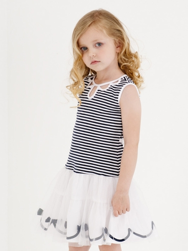 Kate Mack Stripe Keyhole Dress