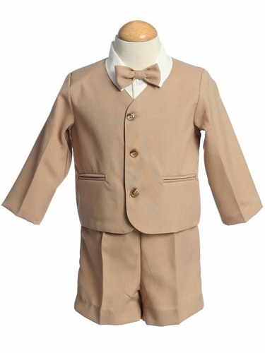 Khaki 4 Piece Polyester Shorts w/ Jacket