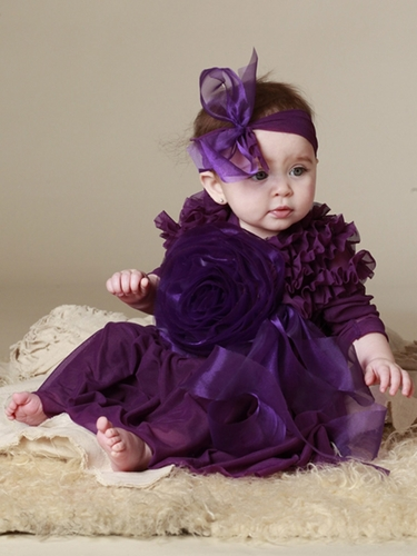 KidCuteTure Tia Plum Baby Dress