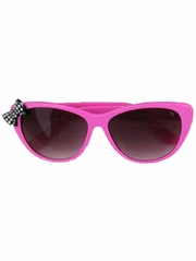 Kids Hot Pink Sunglasses w/ Rhinestone Bow