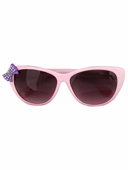 Kids Pink Sunglasses w/ Rhinestone Bow