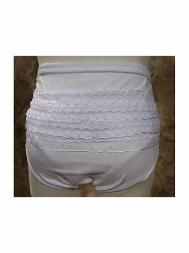 Knit Diaper Cover w/ Lace