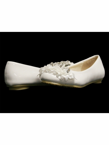Laura Ashley Girls Ballerina Shoe w/ Ruffles