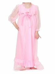 Laura Dare Pink Peignoir Set