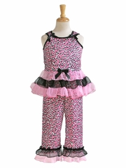 Laura Dare Pink Poodles Bow Top PJ