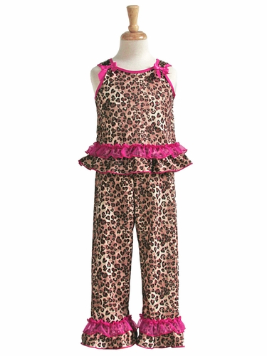 Laura Dare Raspberry Skins Tie Top PJ