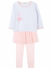f9126ec158fe Le Top Baby Ballerina Shirt w  Pink Tulle Skirted Leggings