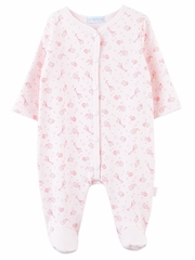 e7162521260c Le Top Baby Safari Snuggle Pink Footed Jumpsuit