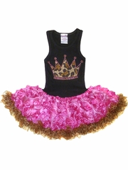 Leopard Crown Organza & Chiffon Tutu Dress