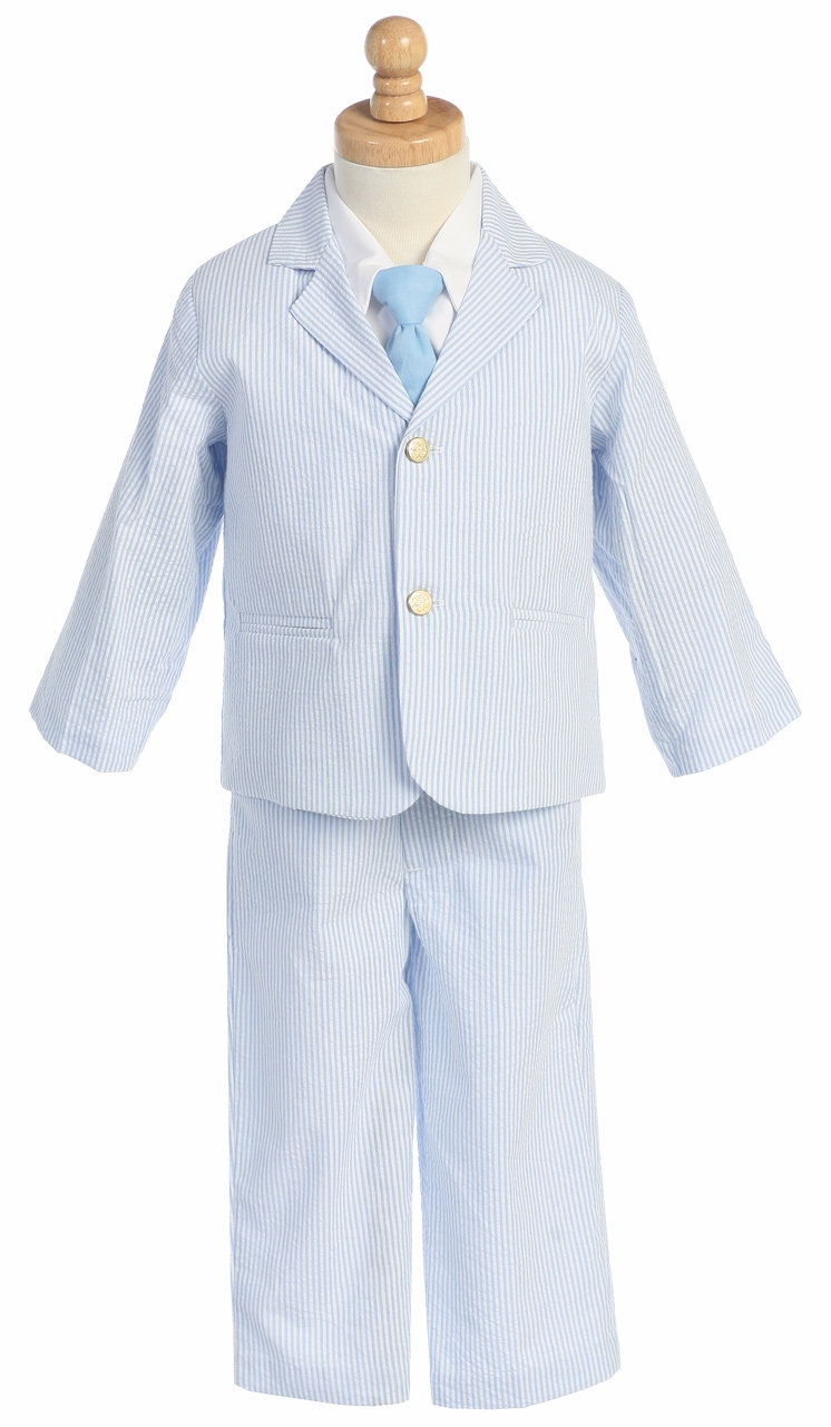 light blue boys striped seersucker suit. Black Bedroom Furniture Sets. Home Design Ideas