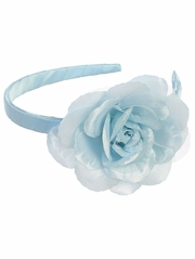 Light Blue Headband w/ Large Rose