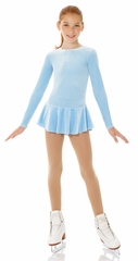 Mondor Light Blue Glitter Velvet Long Sleeve Dress