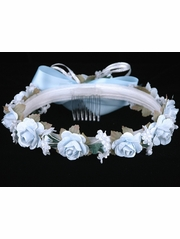 CLEARANCE: Light Blue Rose Wreath
