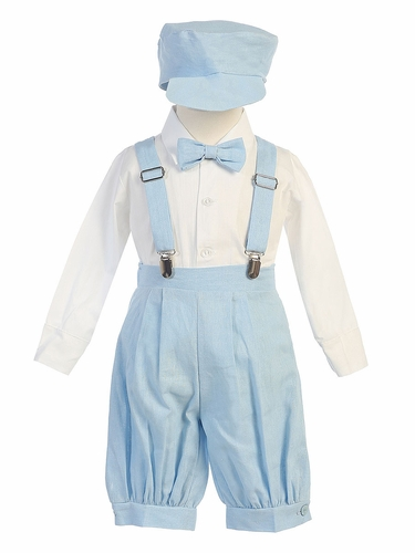 Light Blue Suspender Knickers w/ Hat