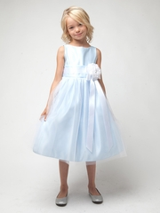 Light Blue Vintage Satin Tulle Dress