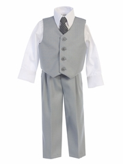 Light Gray Vest & Pant Set