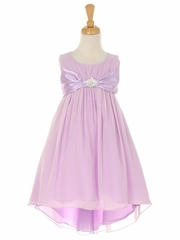 Lilac Chiffon High Low Dress