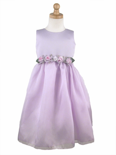 Lilac Flower Girl Dress - Matte Satin Organza Dress