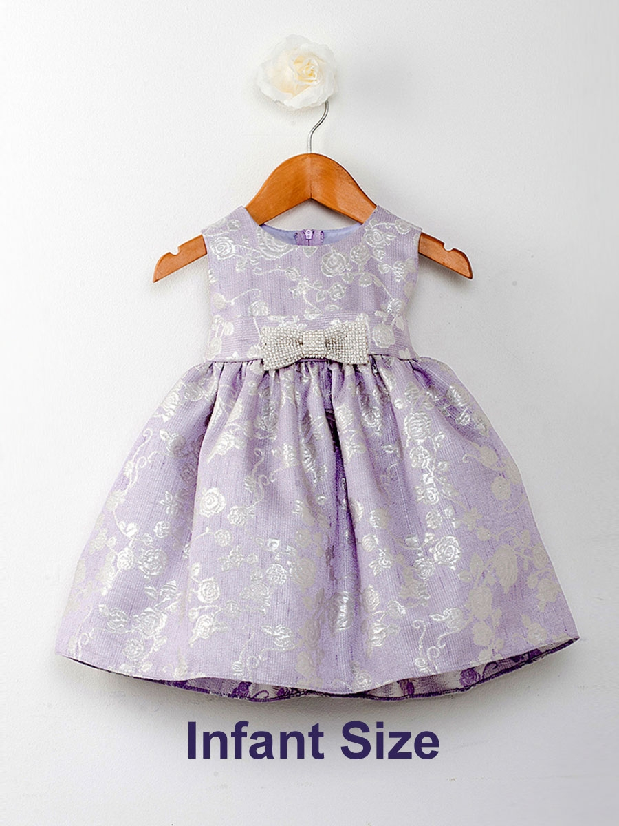add80e3e ... Lilac Glitter Rose Pattern w/ Bow Flower Girl Dress. Click to Enlarge  Click to Enlarge