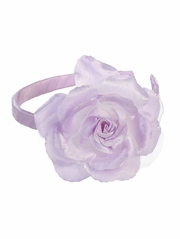 Lilac Headband w/ Large Rose