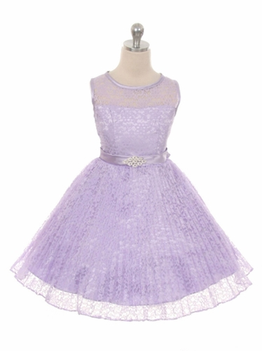 Lilac Lace Sunburst Dress