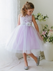 Lilac Lace & Tulle Dress