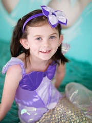 Lilac Mermaid Dress & Headpiece