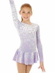 Mondor Lilac Print Born To Skate Glitter Velvet Dress