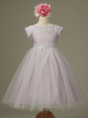 Lilac Princess Tulle Dress w/ Cap Sleeves