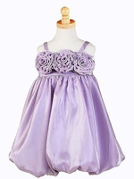 Lilac Triple Rosebud Shimmering Dress