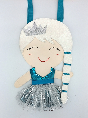 Lily & Momo Aqua & Silver Ice Princess Bag