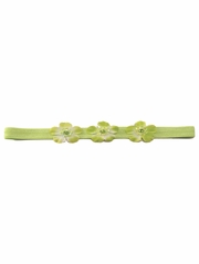 Lime Three Flower Infant Headband