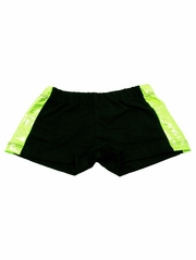 Lime Zebra Metallic Shorts