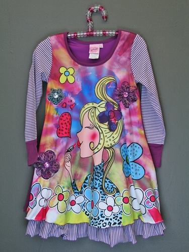 Lipstik Girls Purple Sublimation Diva Dress