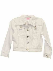 Lipstik Girls Twill White Denim Jacket
