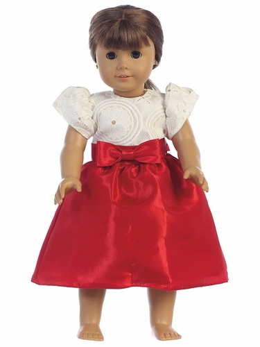 Lito C506 Embossed Lace & Taffeta 18in Doll Dress