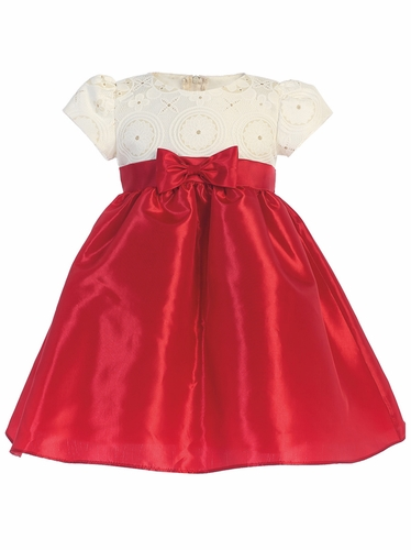 Lito C506 Embossed Lace & Taffeta Dress