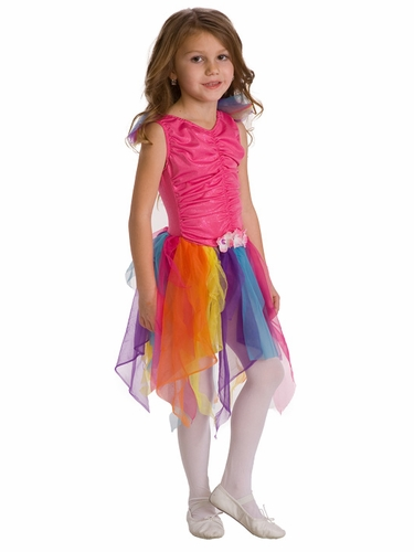 Little Adventures Girls Pink Rainbow Fairy Costume