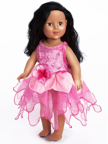 Little Adventures Hot Pink Tulip Fairy  Doll Dress