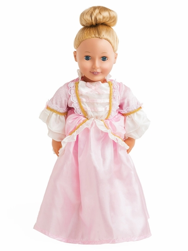 Little Adventures Pink Parisian Doll Dress