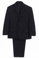 Little Gents 3580 Boy's Black 2PC Suit