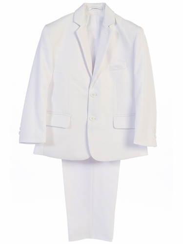 Little Gents 3580 Boy's White 2PC Suit