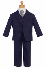Little Gents 5 Piece Navy 2 Button Suit