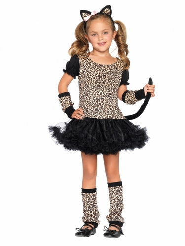 Little Leopard Cat Tutu Child Costumer for Girls