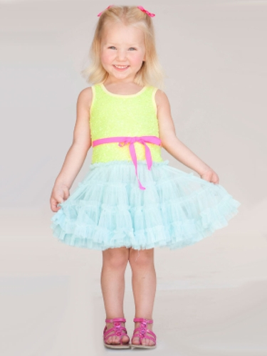"Little Mass ""Le Pink"" Electric Mermaid Tutu Dress"
