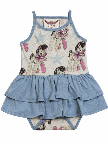 Little Wings Vintage Horses Skirted Onsie