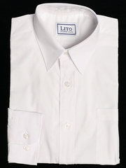 White Long Sleeve Boy's Dress Shirt