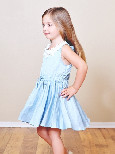 Mae Li Rose Denim Daisy Dress