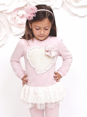 Mae Li Rose Dusty Rose Heart Tunic